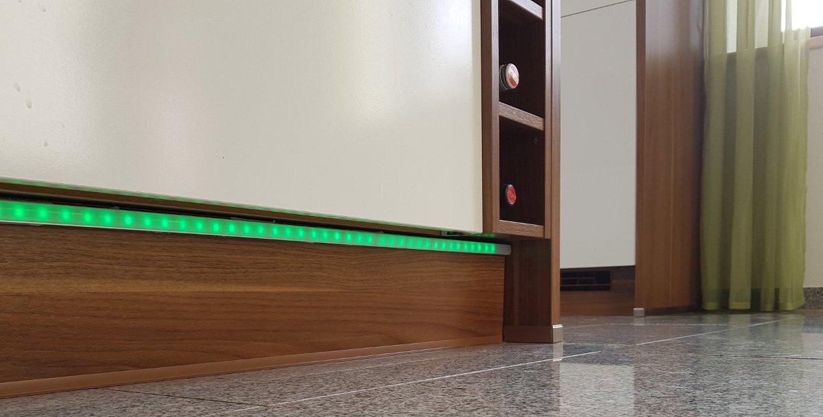 LED-Lichtleisten mit Diffusor für durchgehenden Lichteffekt